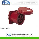 63A 125A 220-380/240-415V 5pin IP67の産業防水パネルのソケット335 345
