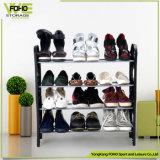 Fußboden-stehende Schuh-Speicher-Zahnstange des Schuh-Zahnstangen-Organisator-billig beweglicher Standard-4-Tier