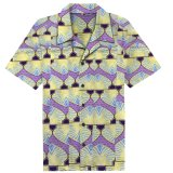 Hot Sale Men's cire africains shirts col chemisier Turn-Down Designs