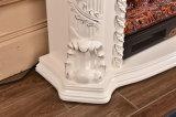 Белый Surround Antique каминной доски камина с высекать цветка