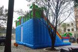 Kundenspezifisches riesiges aufblasbares Schloss-Plättchen mit kletternder Wand