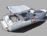 Bateau gonflable de cabine de coque de fibre de verre de bateau de côte de Liya 8.3m