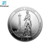 Logo de marque personnalisée Elizerbath 3D Silver Coin