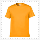 Сплошным цветом пустые обычная футболка с логотипом OEM T футболка