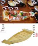 Сашими из дерева на лодке в течении Кюросао Fune Tairyo японские суши деревянная лодка лаком суши лодки