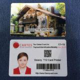O dobro transparente toma o partido cartão da listra magnética de impressão Offset