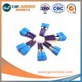 12X45X75HRC45-65固体炭化物6のフルートの平らな端製造所