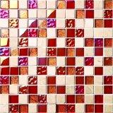 Matériau en cristal en verre des prix de tuile de mosaïque de vente en gros de mosaïque de tuile de mosaïque