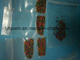 De aluminio anodizado en color naranja y rosa/Morado/Color Arcoiris perlas de ranurado de tungsteno para la pesca