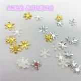 Scintillement de forme de neige pour l'art de clou et la couleur d'or de série de couleur de perle de beauté de clou