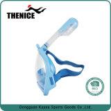 Máscara panorâmico do Snorkel da face cheia da vista para os miúdos que Snorkeling