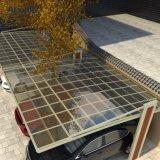 Neige chargeant la couverture en aluminium moderne d'abri de parking de Polycarbonated