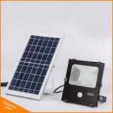 В центре внимания солнечной энергии солнечного датчика движения прожектор для наружного освещения с 10W/20W/30W/50 Вт/100W