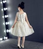 Платье партии детей шнурка Sequin длины колена