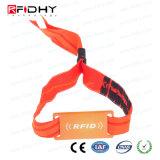 Solución evento 13.56MHz RFID tejida Writsband personalizado