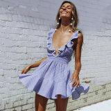 فصل صيف متّبع آخر صيحة [ف-نك] شريط نمط مثيرة [لس-وب] إمرأة ثوب