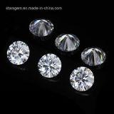 A qualidade superior E/F cancela o diamante sintético de Moissanite da cor branca para a jóia da forma