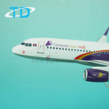 Aire A320neo los 25cm de Camboya Angko del modelo del vuelo de los aviones