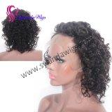 Шнурка Handtied человеческих волос #2 парик человеческих волос париков курчавого бразильского Remy прифронтовой с свободно перевозкой груза