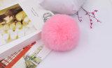 袋および車Pomsのための柔らかいウサギの毛皮の球のキーホルダー