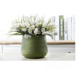 Tulipano di seta di colore giallo del mazzo del tulipano di falsificazione del fiore artificiale della decorazione domestica all'ingrosso