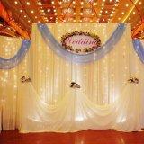 Luz de la Navidad de hadas de la decoración de 6*3meter 600 LED de la luz al aire libre de la cortina