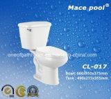 Toilettes en deux pièces d'articles sanitaires bon marché pour la salle de bains (CL-017)