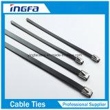 Bille de serre-câble d'acier inoxydable verrouillée avec le PVC enduit