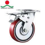 Rodízio esférico galvanizado resistente da roda do ferro de molde do plutônio