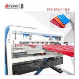 PVC에 의하여 주름을 잡는 파 플라스틱 기와 압출기 기계
