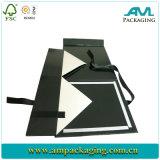 Cierre magnético impresión plegable plegable de cartón de embalaje caja con cinta de opciones