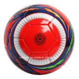 Bille de football en cuir de PVC de divers biens rouges de taille