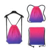 Foldable 기본적인 체조 졸라매는 끈 책가방이 경량 수영 쇼핑에 의하여