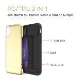 Caja invisible de la ranura para tarjeta TPU+PC del trefilado para el iPhone X