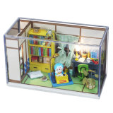 El estilo japonés embroma la mini casa del juguete