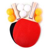 Tenis de mesa Paquete: 4 Jugadores (4 raquetas o palas y 8 bolas) con el cuadro de Color