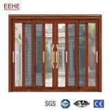 Puerta de vidrio de desplazamiento de Iterior con el marco de aluminio