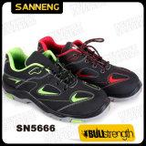 Corte bajo PU+zapatos de suela de goma Calzado de Seguridad Industrial (SN5666)