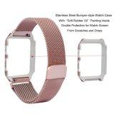 Banheira Milanese cinta de vigilância da malha de Loop para faixa de relógio da Apple com a Estrutura