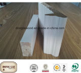 Le prix usine a conçu le cadre de porte en bois découpé par main