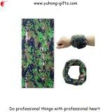 Omslag Bandana Hoofd, de Beenkap van de Polyester van de camouflage de Elastische van de Hals Bleekgeel voor het Lopen (yh-HS194)