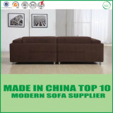 Sofa en gros de portée d'amour de tissu de Manufactor Brown de meubles chinois