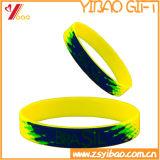 주문 로고에 의하여 인쇄되는 실리콘 팔찌, 선전용 선물 (YB-SM-12)를 위한 소맷동