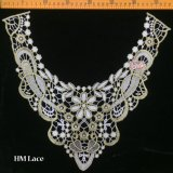 38*38cm Spitze-Muffe, weißes Tulle im Goldgewinde-Muffen-SpitzeApplique für Form-und Couture-Entwürfe Hme910