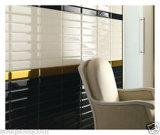 Black 3X12 pulgadas/7,5x30cm cristal biselado brillante de la pared cerámica mosaico Metro baño cocina Decoración
