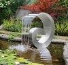 プールおよび庭の池の庭のカスケードのための2017年のかたつむり形のステンレス鋼の滝の噴水