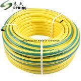 Macio e flexível de PVC trançado de fibra de mangueira de jardim/ Mangueira de Água