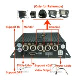 4GのH. 264 1080P 4CH車移動式DVRおよびGPSはカードSDの二倍になる