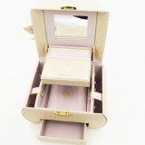 Коробка вахты ювелирных изделий бархата ящика самого лучшего продавеца (J03-F)