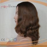 Peruca européia ondulada frouxa do cabelo do Virgin da cor de Brown (PPG-l-0312)